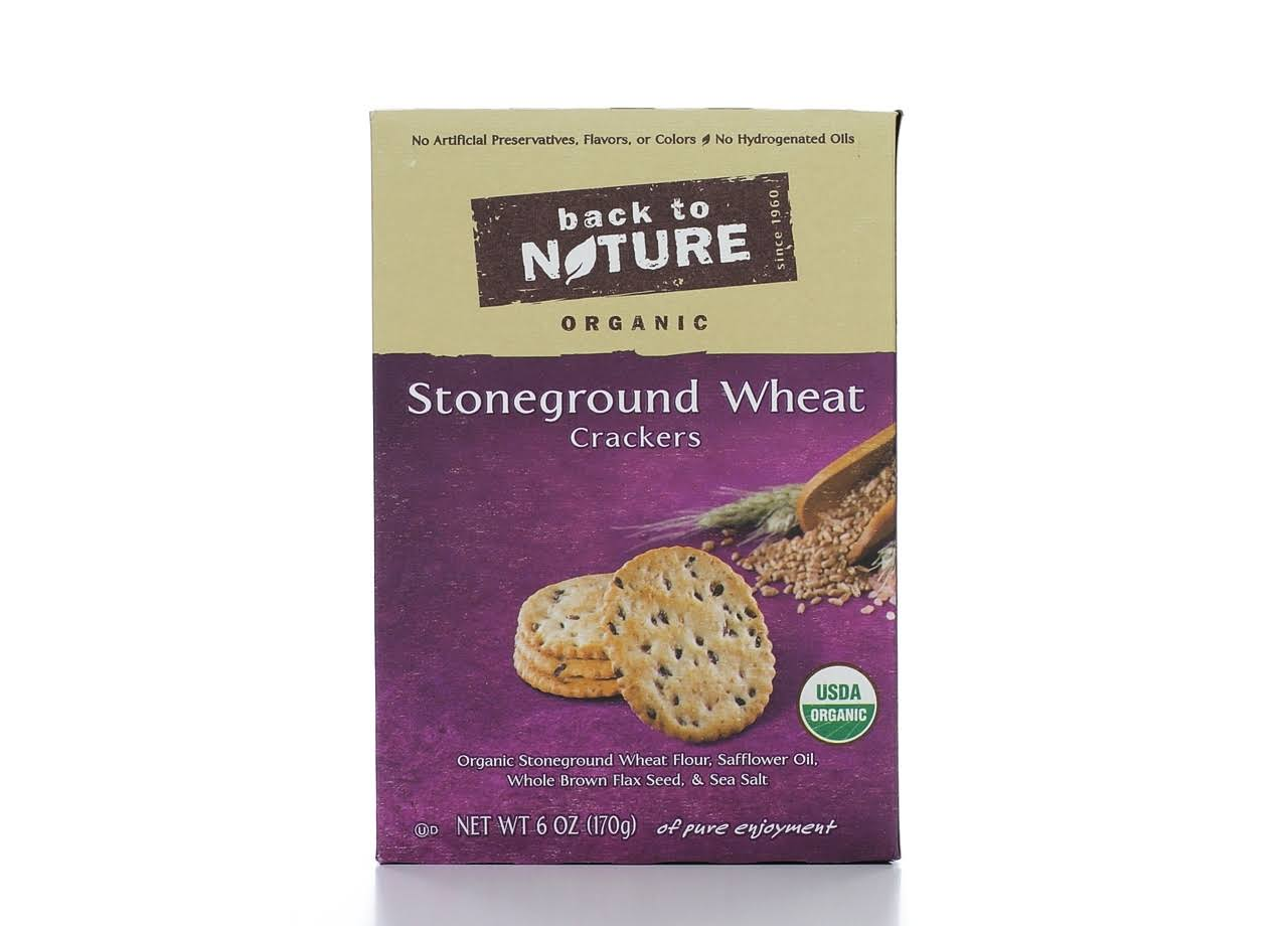 Back To Nature Organic Stoneground Wheat Crackers - 6oz