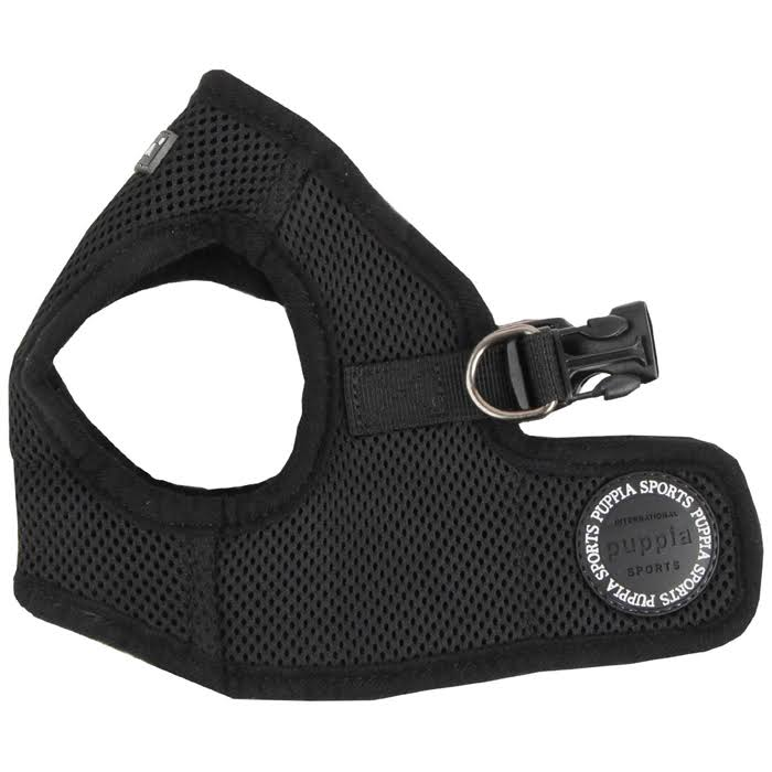 Puppia Soft Dog Harness Vest Large Black