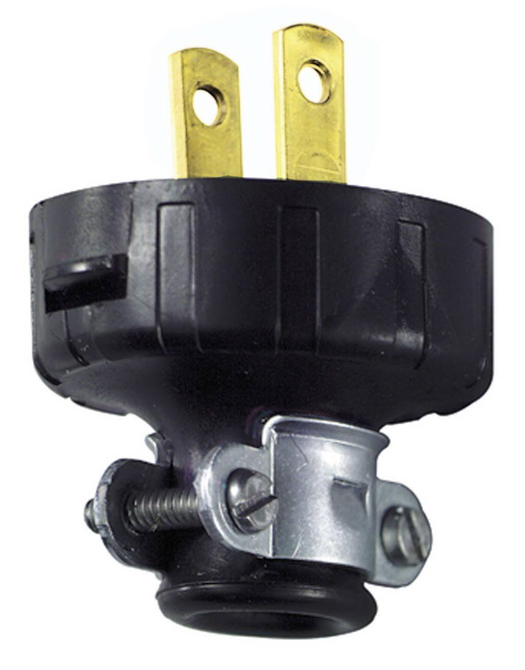 Leviton Heavy Duty Plug - Black, 15 Amp, 125V