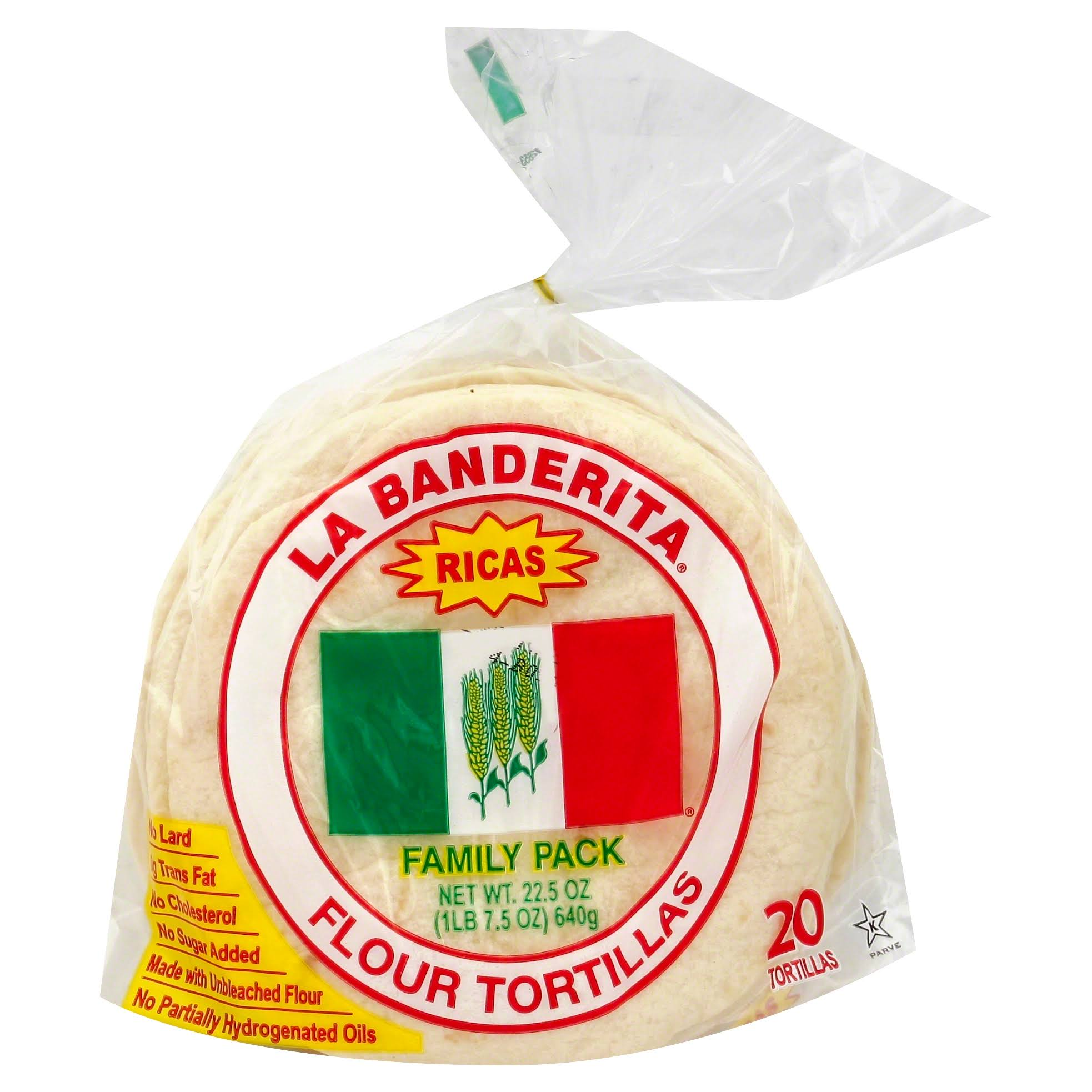 La Banderita Flour Tortillas Family Pack - 22.5oz, x20