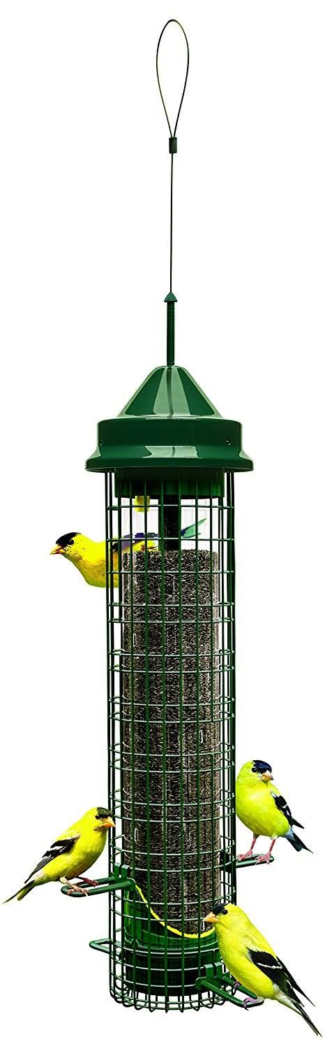 "Brome Squirrel Buster Finch Wild Bird Feeder - 5.3"" x 5.3"" x 32"""