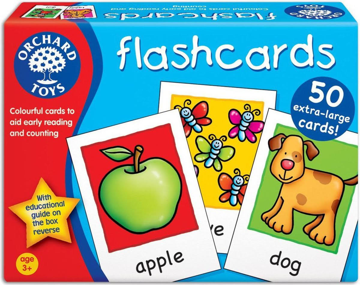 Orchard Toys Flashcards - 50 Cards, X-Large
