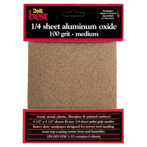 Do It Best Sandpaper Sheet - 100 Grit