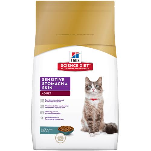 Hill's Science Diet Sensitive Stomach and Skin Adult Dry Cat Food - 7lb