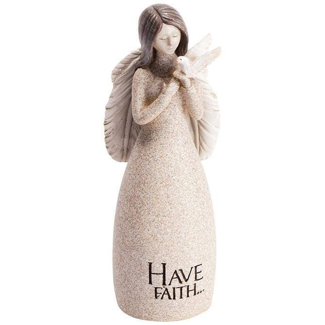 "Carson Home Accents Angel Blessings Figurine - Have Faith, 5.25"" x 2"""