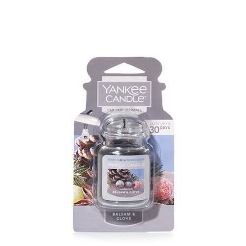 Yankee Candle Car Jar Ultimate- Balsam & Clove Odor Neutralizing