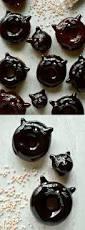 Krispy Kreme Halloween Donuts Calories by Chocolate Glazed Black Cat Doughnuts Recipe Chocolate Glaze