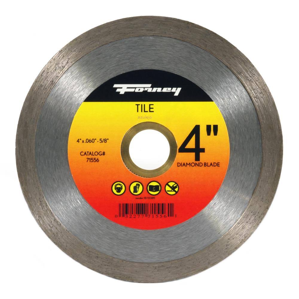 Forney Diamond Tile Cutting Blade with Continuous Rim - 4""
