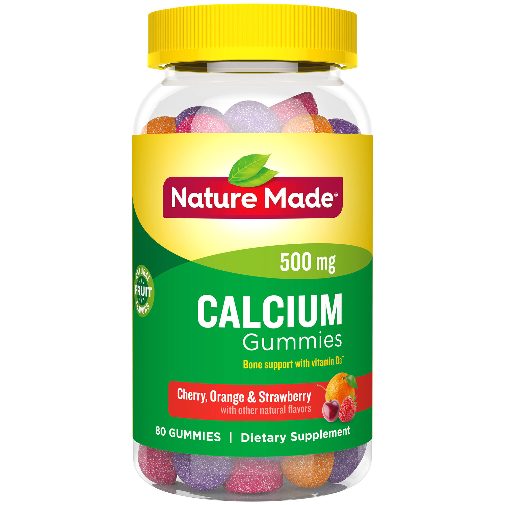 Nature Made Calcium Adult Gummies Dietary Supplement - 80ct