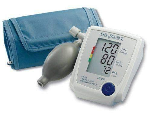 Lifesource Advanced Blood Pressure Monitor Manual Inflate