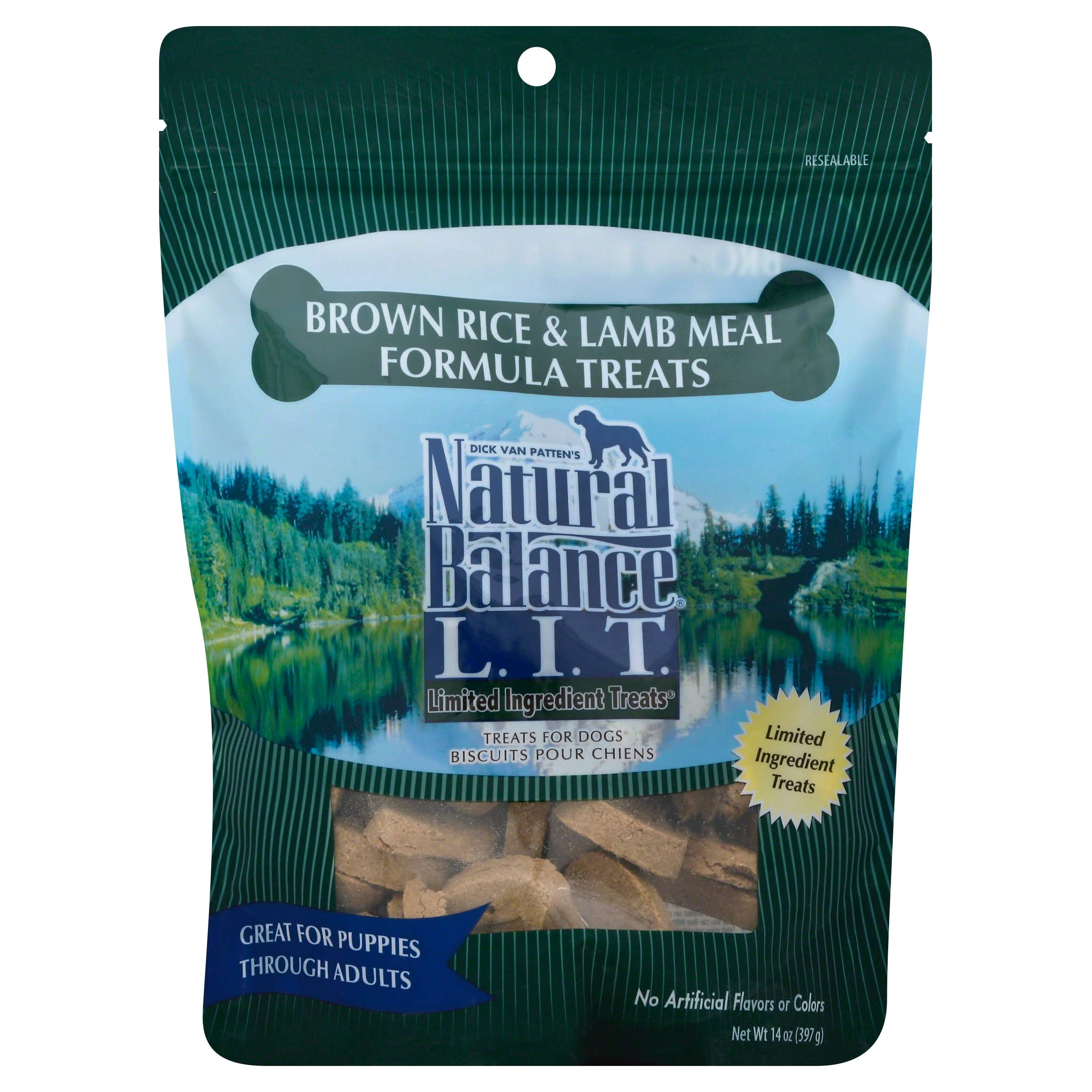 Natural Balance Limited Ingredient Dog Treats - Brown Rice and Lamb Meal Formula, Dry, 14oz
