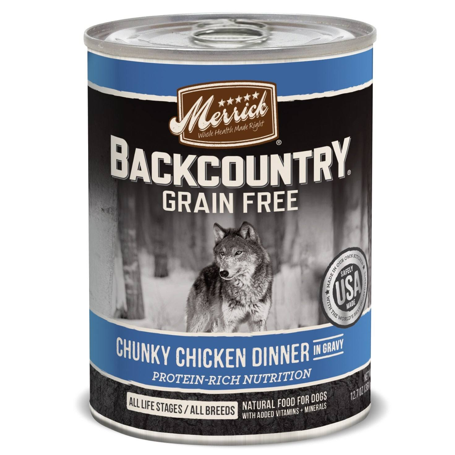 Merrick Backcountry Dog Food - Chunky Chicken Dinner