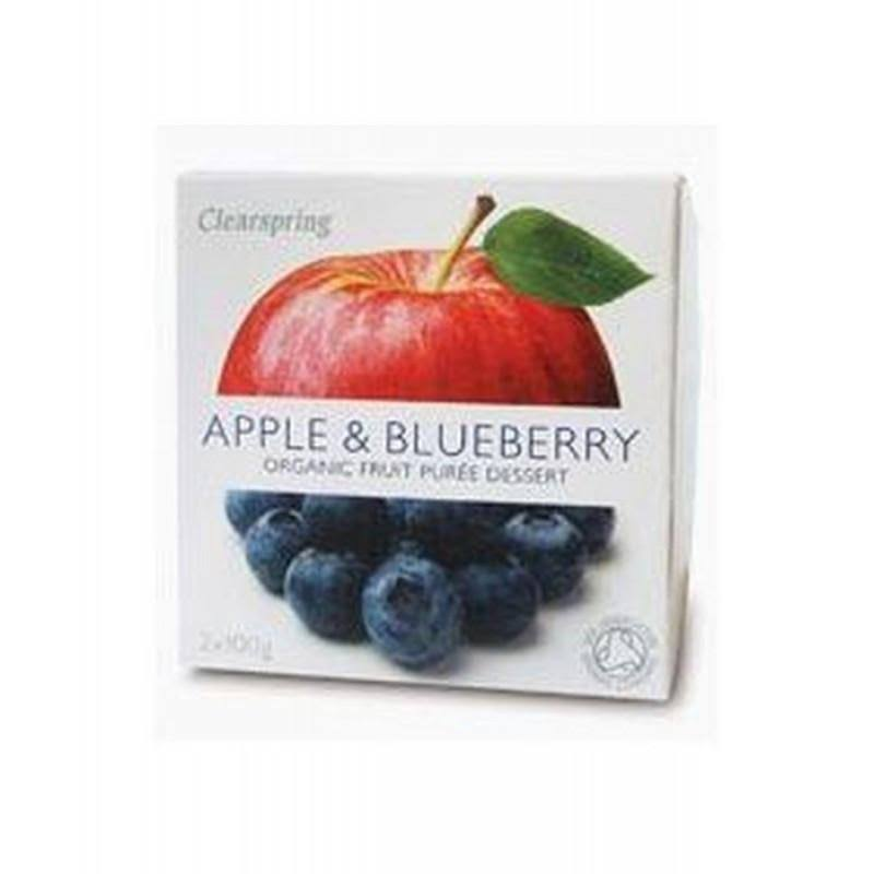 Clearspring Organic Fruit Puree Dessert - Apple and Blueberry, 100g