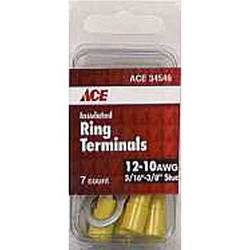 Ace Insulated Ring Terminal - Yellow, 12-10 AWG