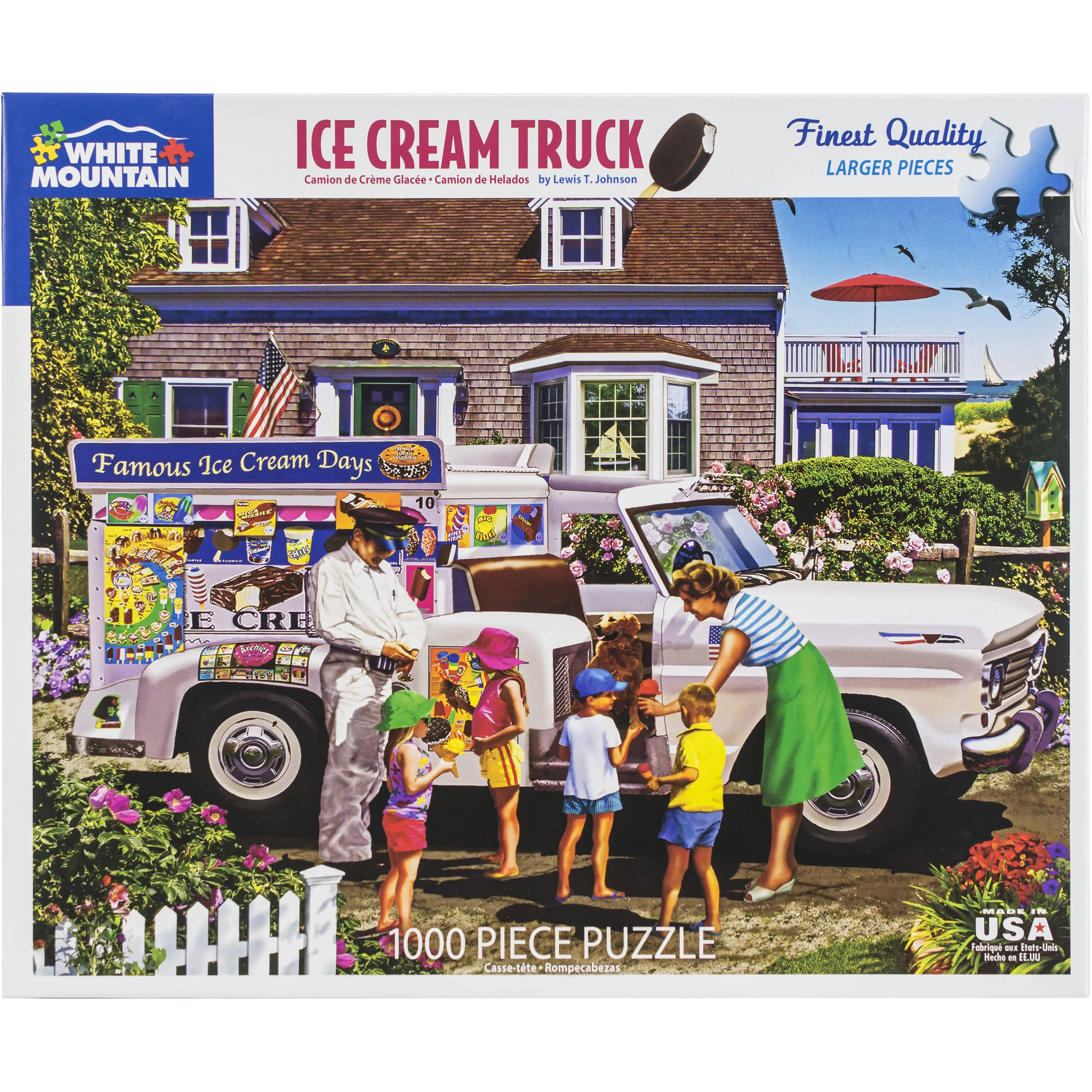 White Mountain Puzzles Ice Cream Truck - 1000 Piece Jigsaw Puzzle