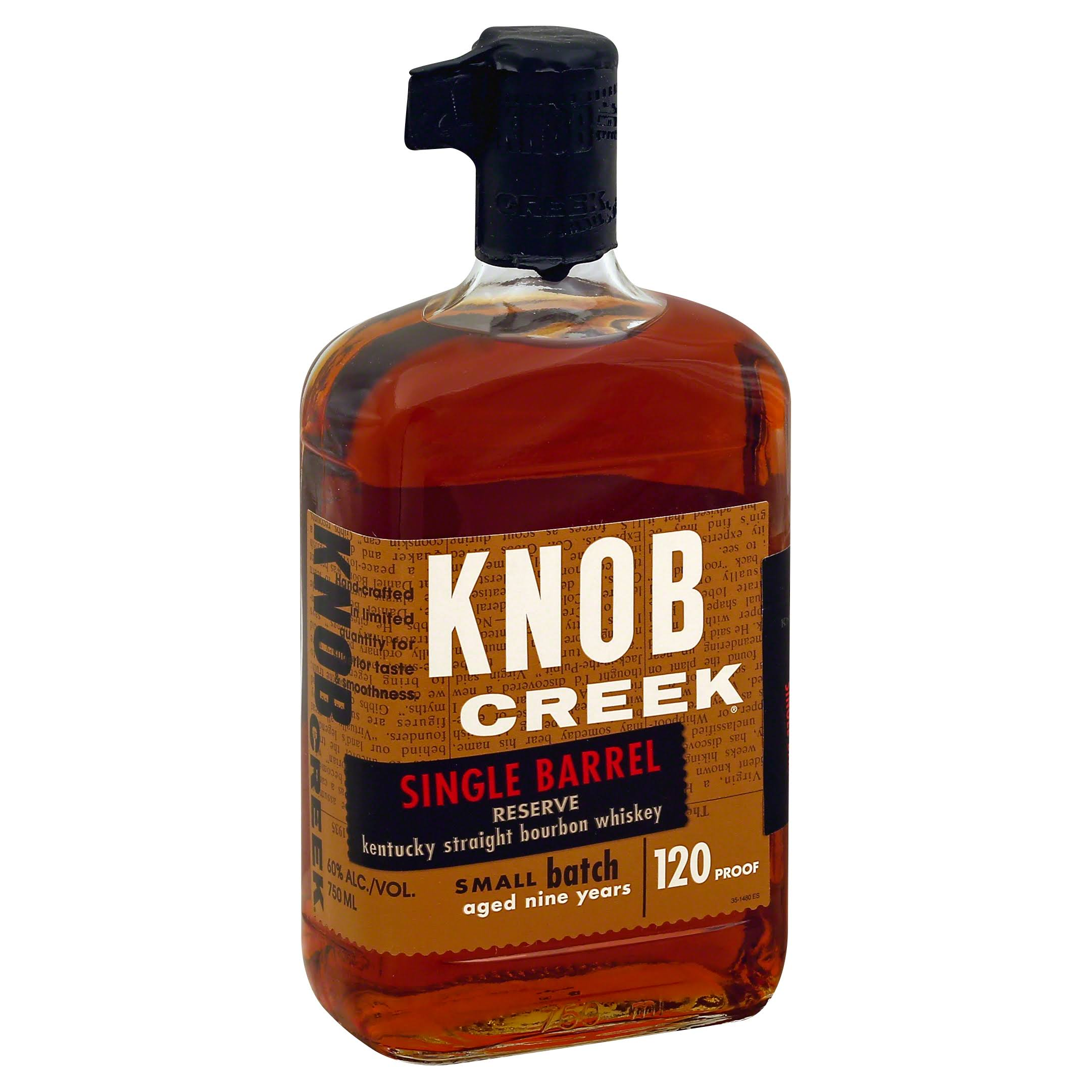 Knob Creek Whiskey, Kentucky Straight Bourbon, Single Barrel Reserve - 750 ml