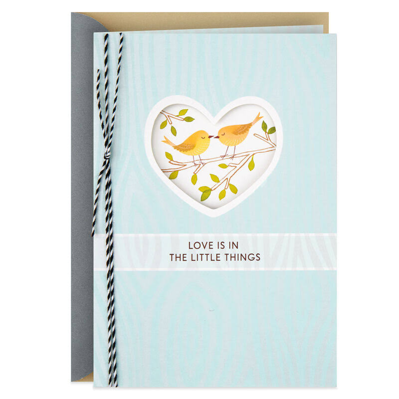 Two Birds Love Is in The Little Things Anniversary Card