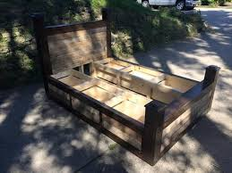diy pallet bed frame with drawers pallet furniture plans