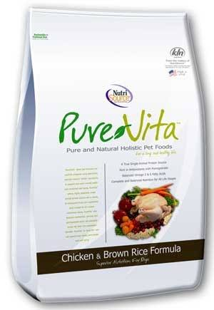 Tuffy's Pet Foods Pure Vita Chicken and Brown Rice Dry Dog Food - 15lb