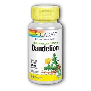 Solaray Organic Dandelion Dietary Supplement - 100 Capsules