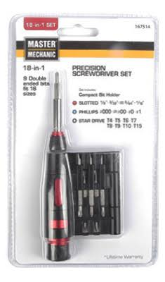 Hangzhou Great Star Indust Master Mechanic 18 in 1 Precision Screwdriver Set