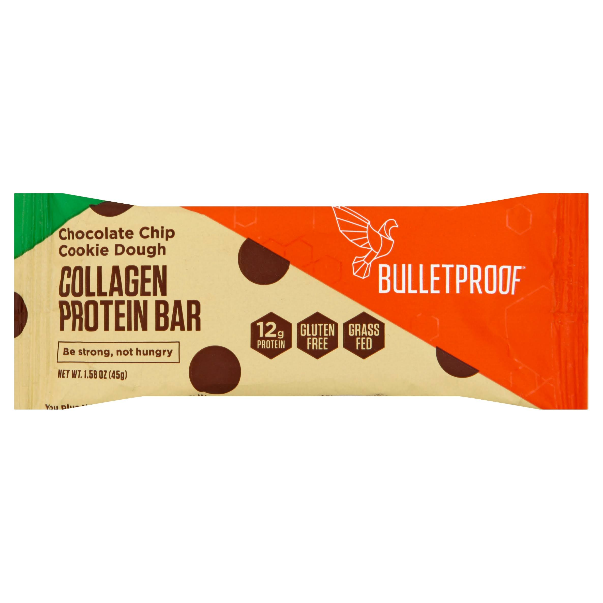 Bulletproof Protein Bar, Collagen, Chocolate Chip Cookie Dough - 1.58 oz