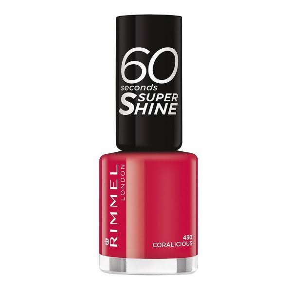 Rimmel London 60 Seconds Super Shine Nail Polish - 430 Coralicious, 8ml