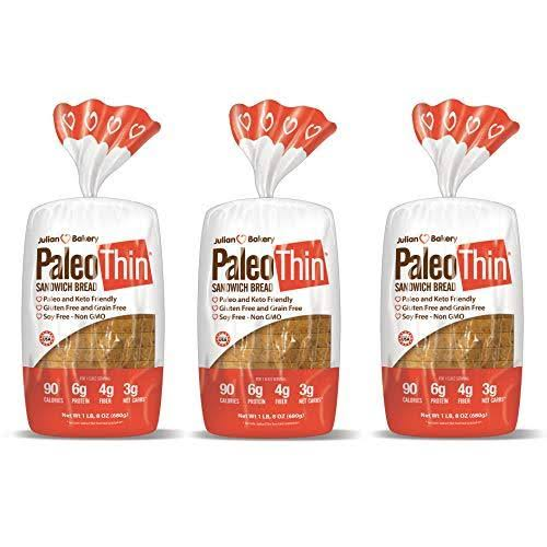 Paleo Thin Sandwich Bread - 16 Slices, 1.5lbs, 3pk