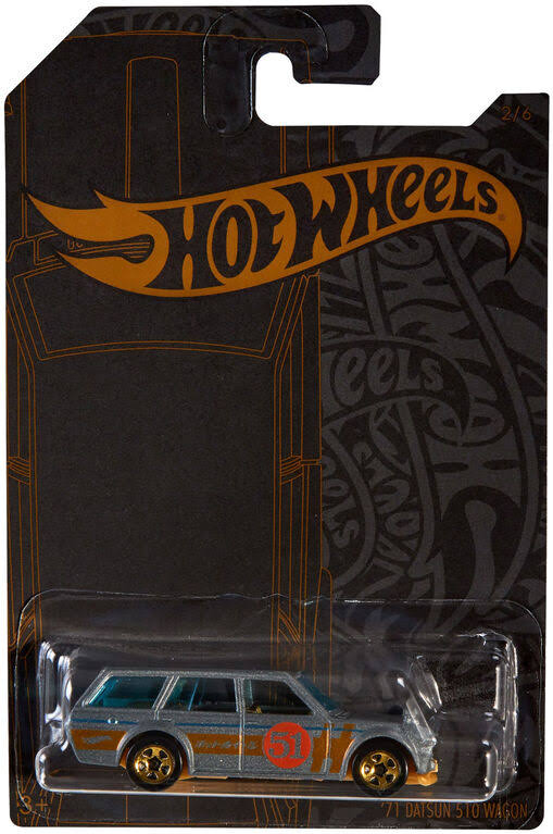 Hot Wheels Satin & Chrome '71 Datsun 510 Wagon Die-Cast Car #2/6