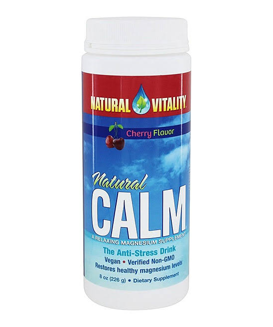 Natural Vitality Natural Calm Supplement - Cherry, 8oz