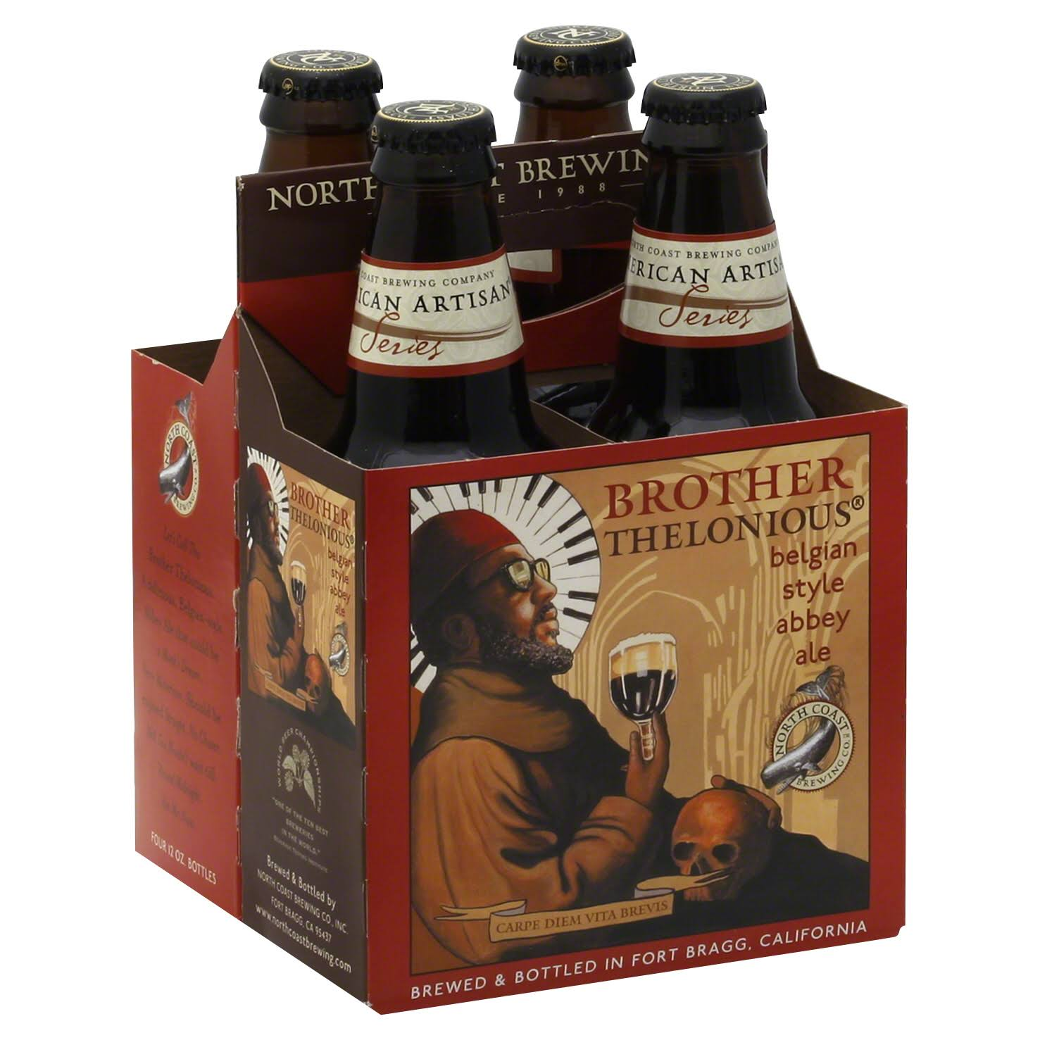 North Coast Brewing Ale, Abbey, Belgian Style - 4 pack, 12 oz bottles