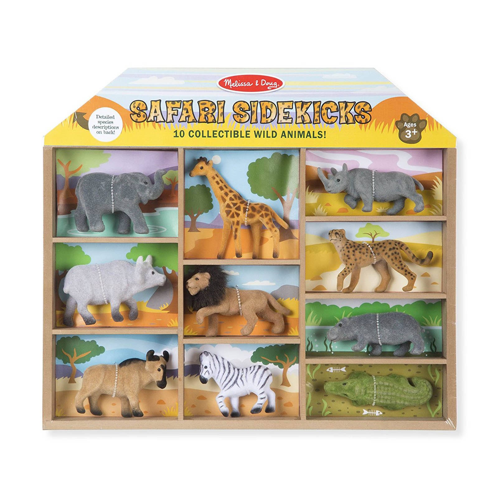 Melissa & Doug - Safari Sidekicks - 10 Collectible Wild Animals