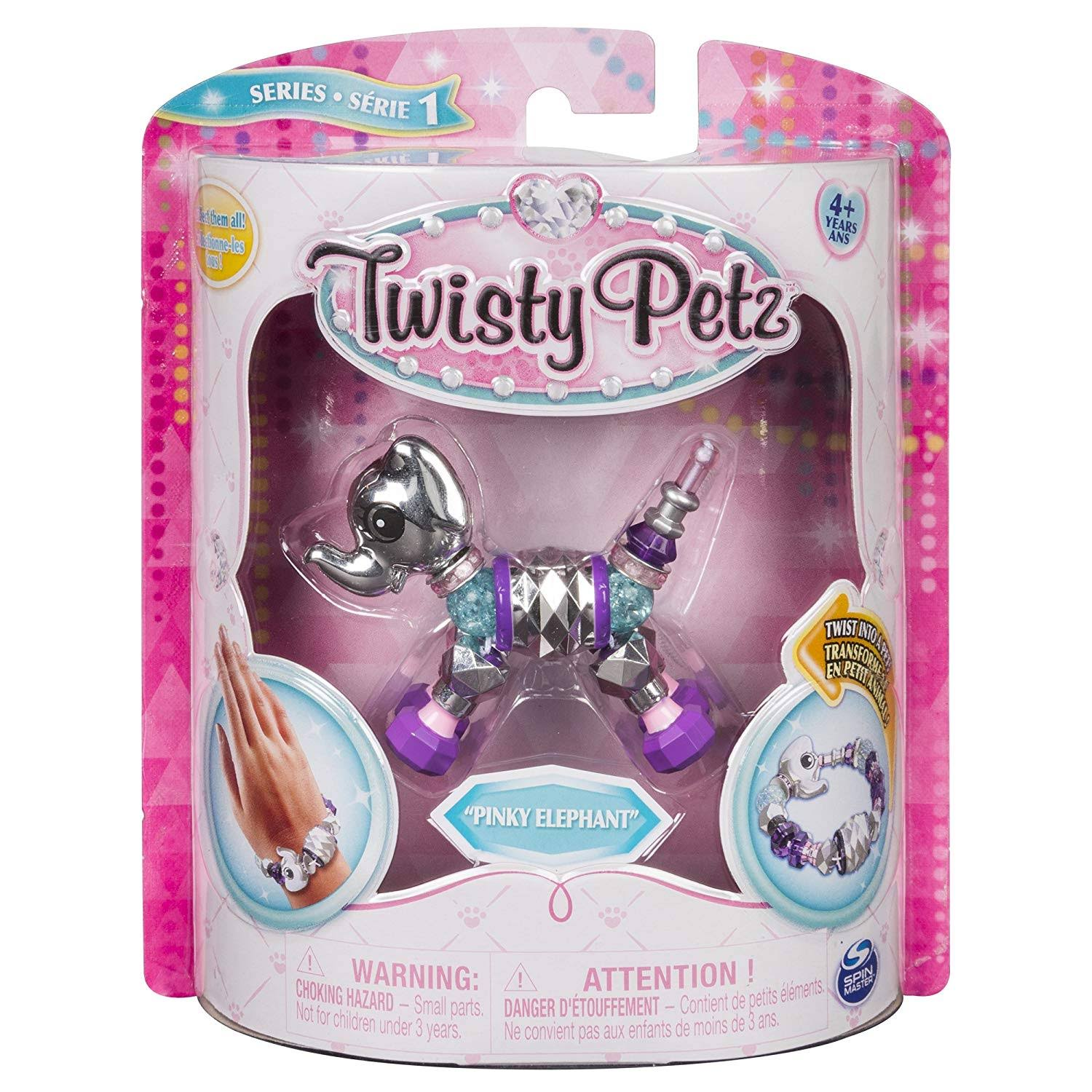 Twisty Petz Kids Bracelet - Pinky Elephant