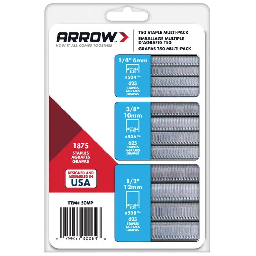 Arrow Fastener T50 Staple - Multi-Pack