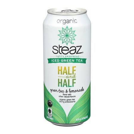 Steaz Regular Half And Half Green Tea & Lemonade - 16oz