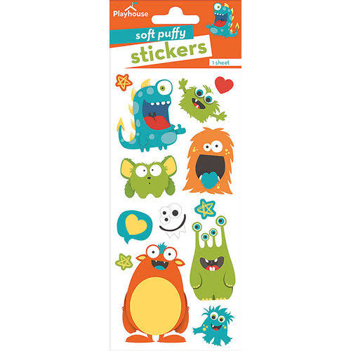 Paper House Soft Puffy Stickers -Monsters