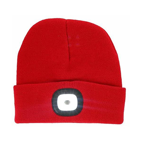 Night Scout Rechargeable LED Beanie Red