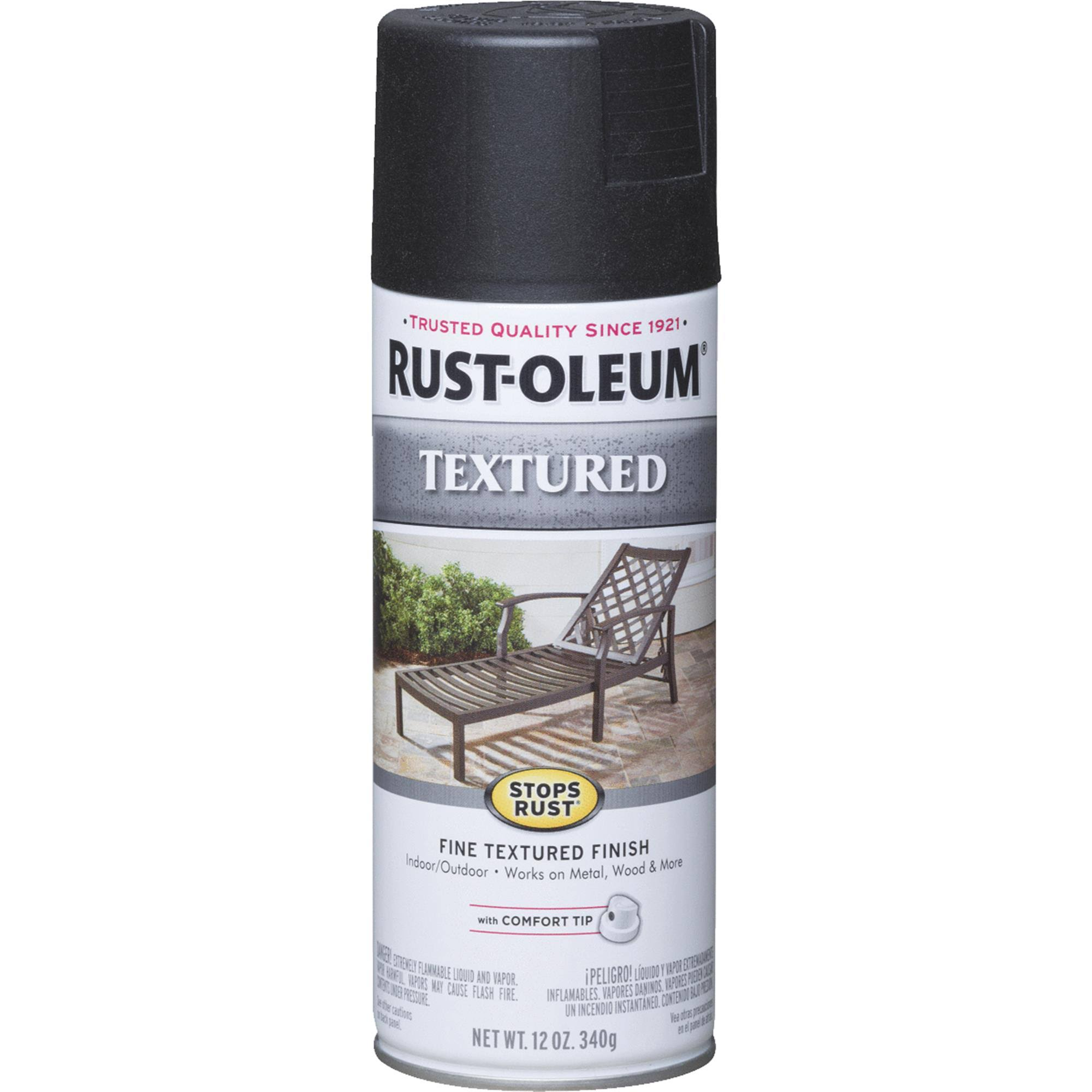 Rust-Oleum Textured Finish Spray Paint - Stops Rust, 12 oz