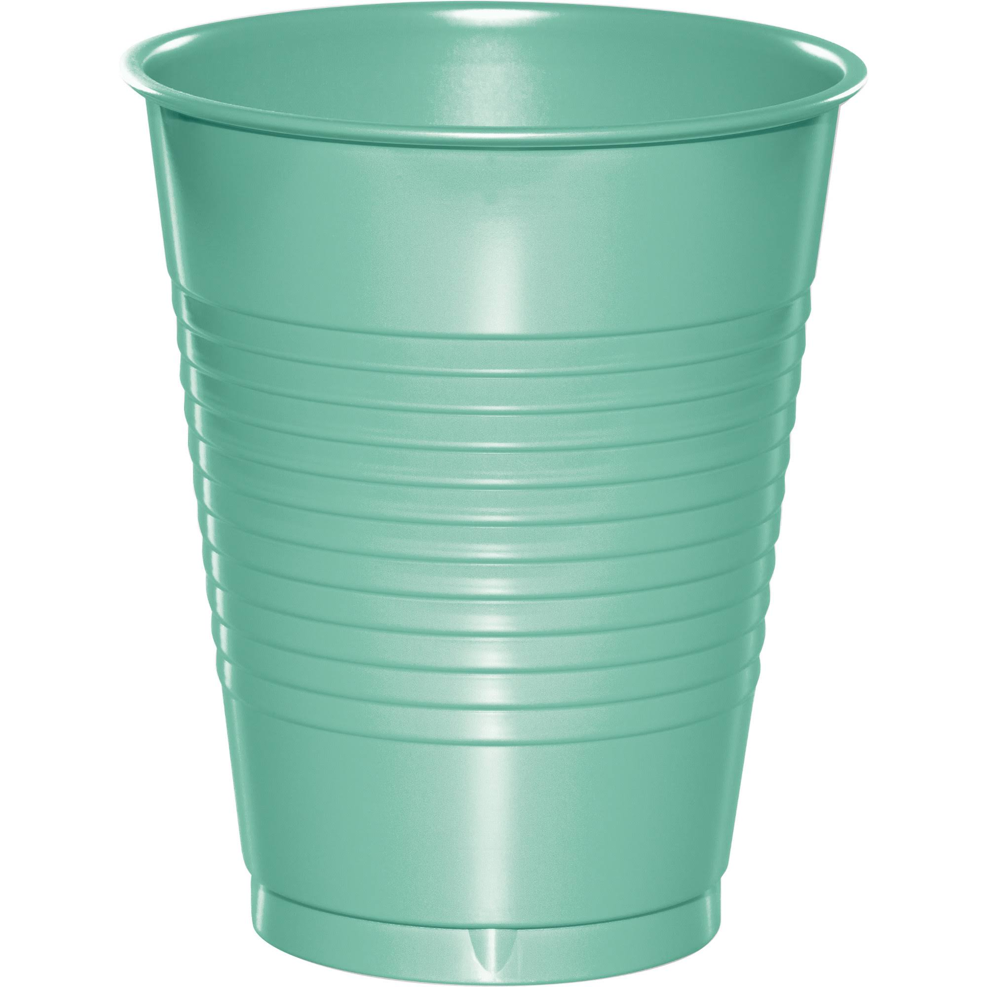 Creative Converting Plastic Cups - Green, 16oz, 20ct