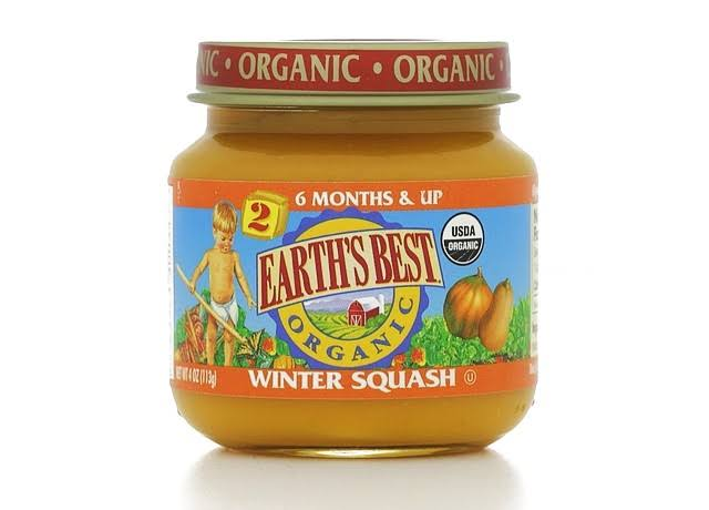 Earth's Best Organic Baby Food Stage - Winter Squash, 2-6 Months+, 4oz