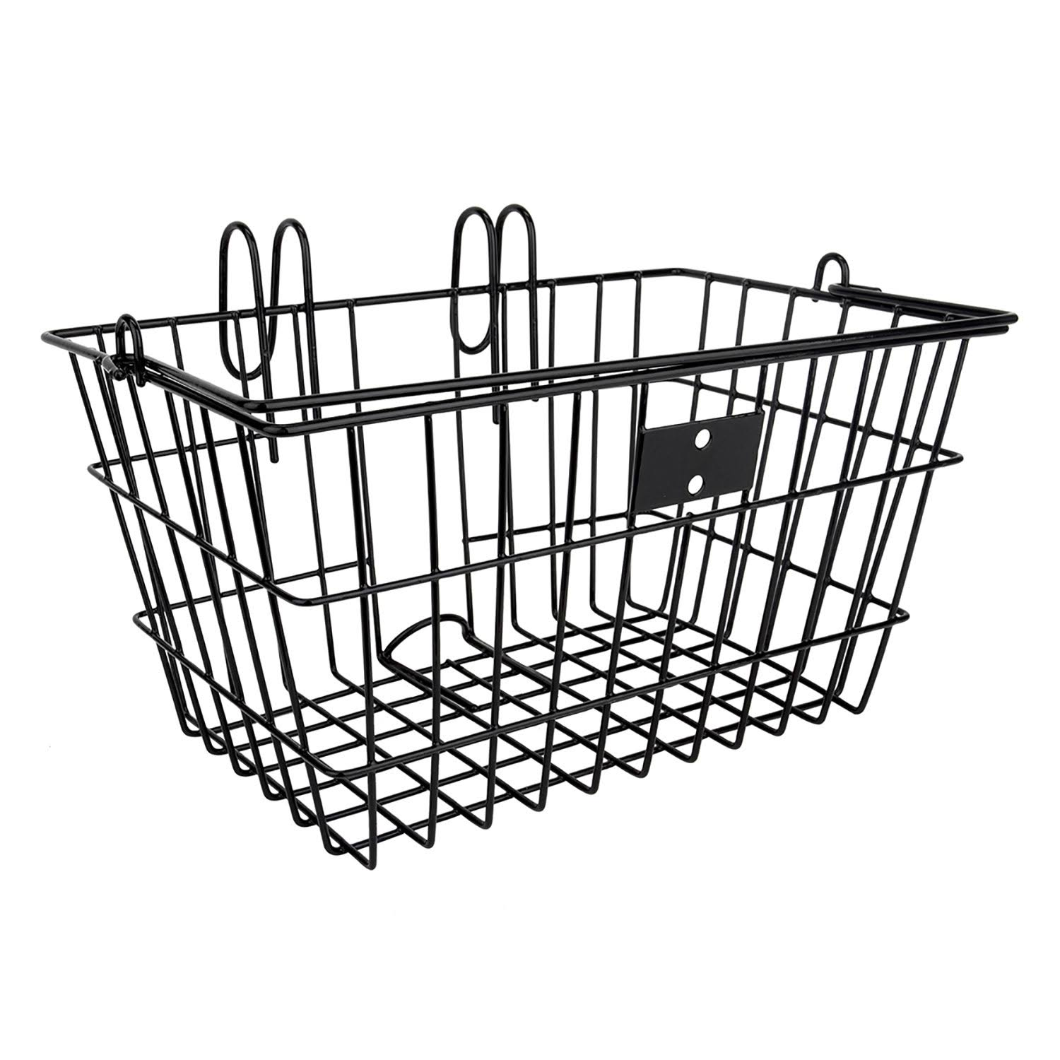 Sunlite Bicycle Lift Off Front Basket - Black Steel