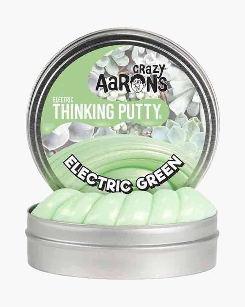 Crazy Aaron's Thinking Putty Electric Green Mini Tin