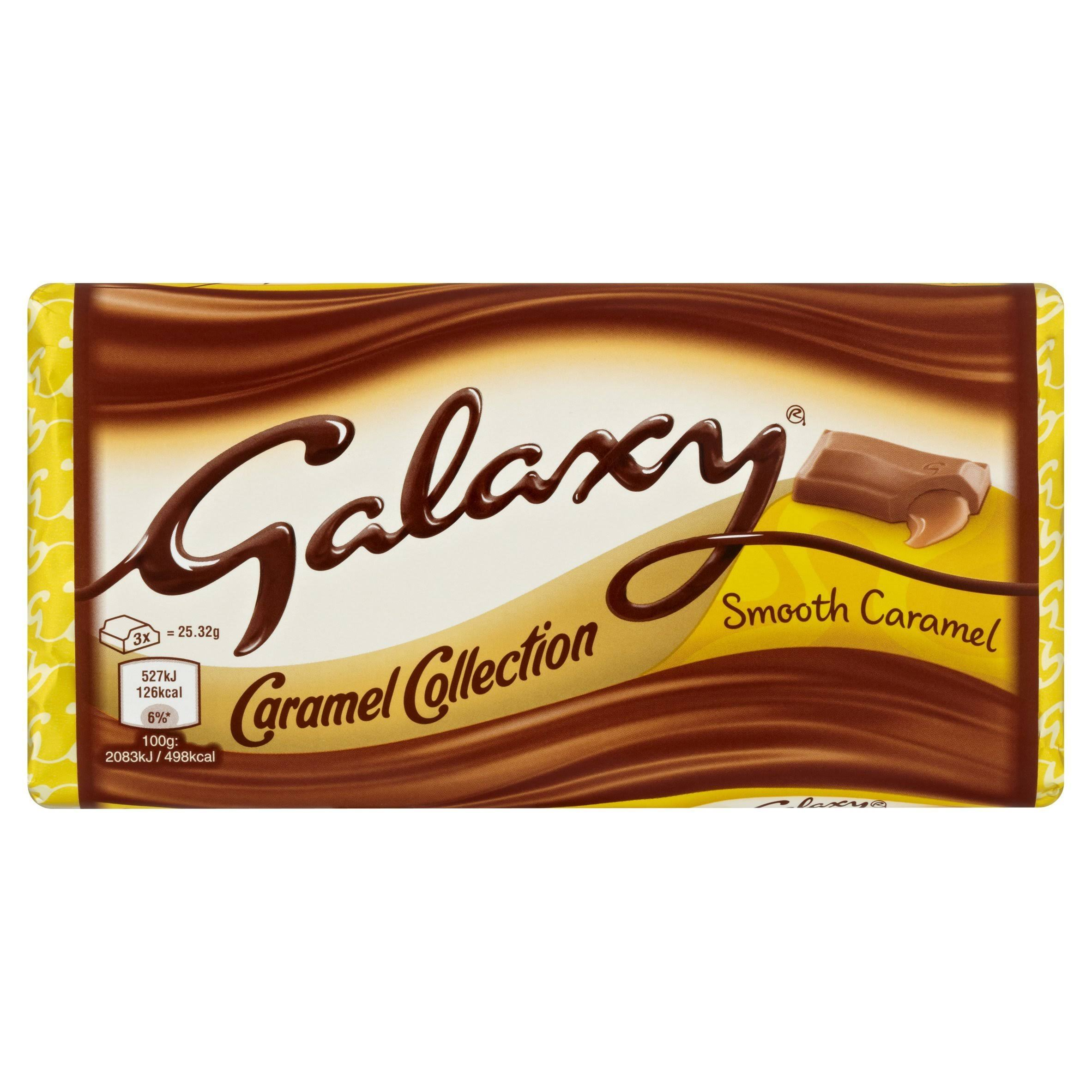Galaxy Smooth Caramel Chocolate Bar - 135g