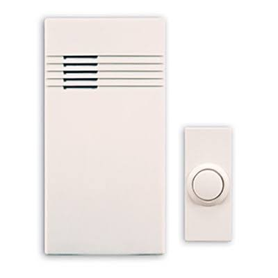 Heath Zenith SL-7750-02 Wireless Battery Operated Door Chime Kit - White