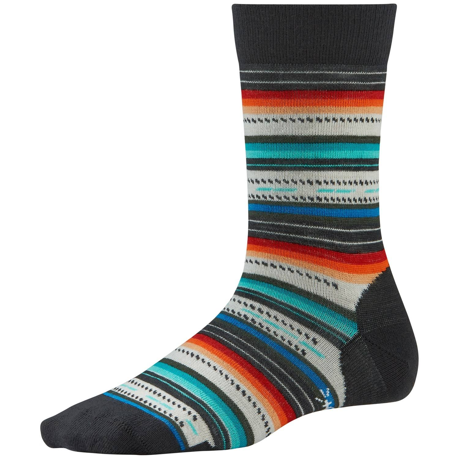 SmartWool Women's Margarita Socks - Black/Multi Stripe, Medium