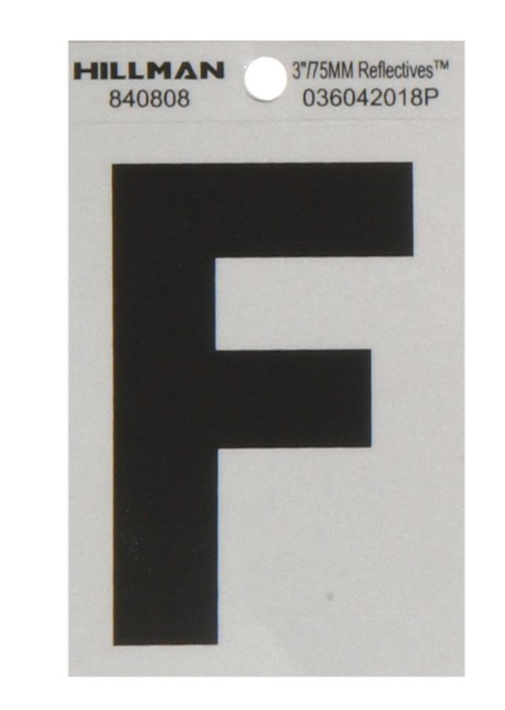 "The Hillman Group 840808 House Letter - F, 3.75"", Black and Silver"