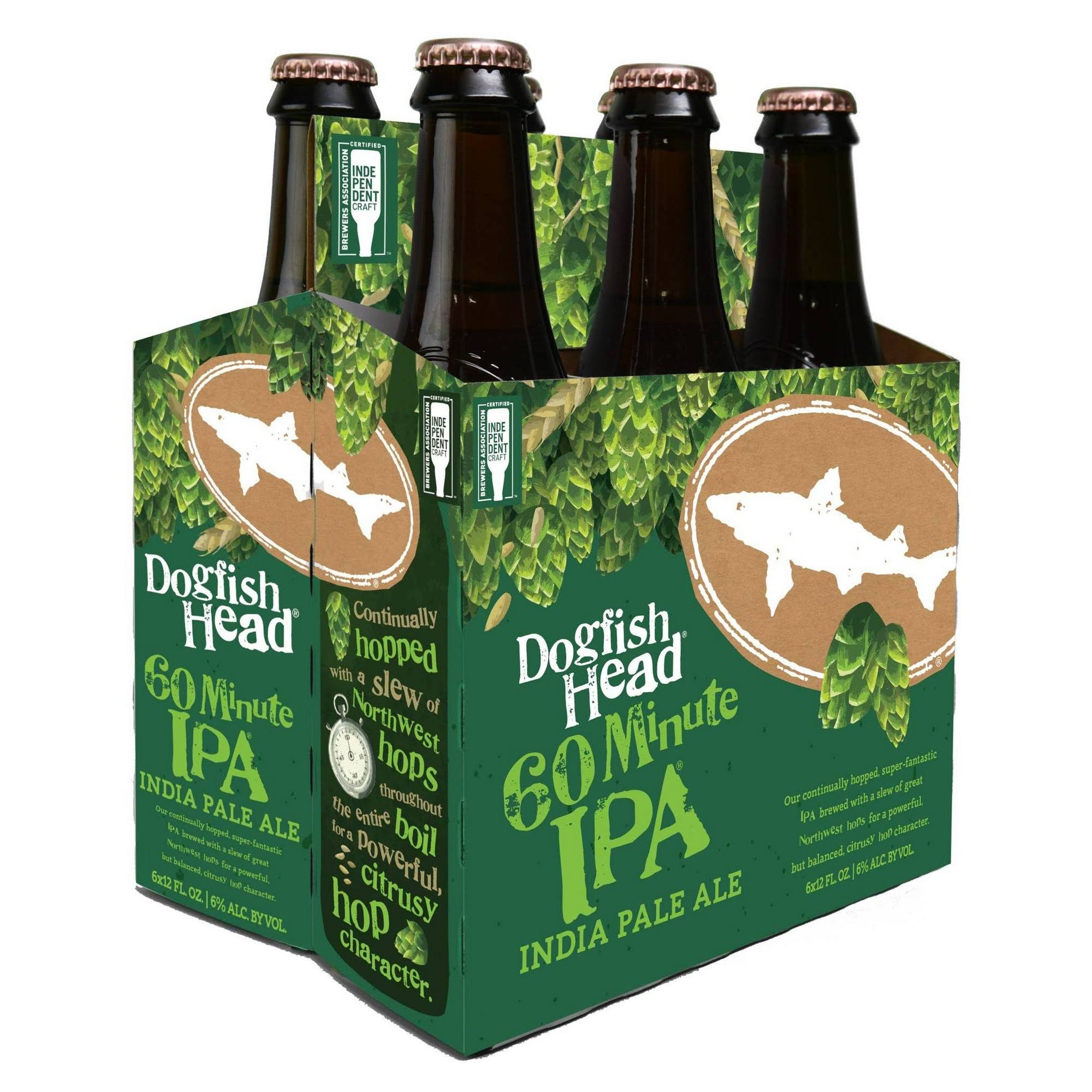 Dogfish Head Beer, IPA, 60 Minute - 6 - 12 fl oz cans.