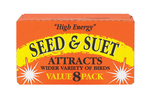 C & S Products 8217788 High Energy Seed & Suet Beef Suet - Pack of 8