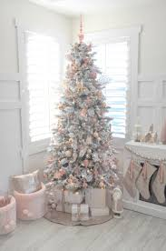 Raz Gold Christmas Trees by Blush Pink And White Flocked Vintage Inspired Christmas Tree By