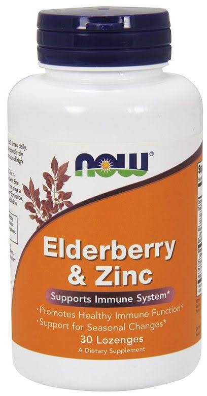 Now Foods Elderberry & Zinc - 30 Lozenges